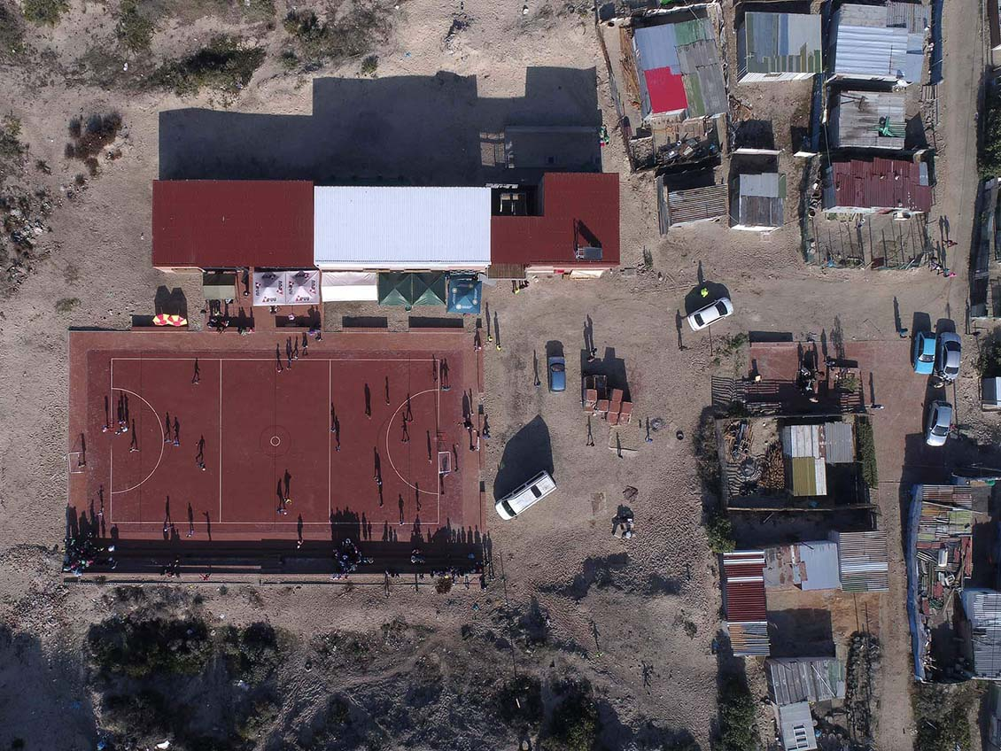 Monwabisi Park Neighborhood im Township Khayelitsha, Kapstadt